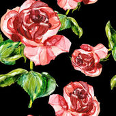 Red rose seamless pattern — Photo