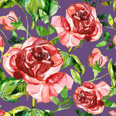 Red rose seamless pattern — 图库照片