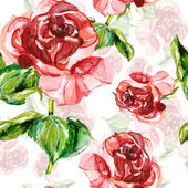 Red rose seamless pattern — Stock fotografie