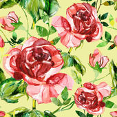 Red rose seamless pattern — Stok fotoğraf
