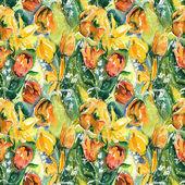 Tulips Seamless Pattern — Stock Photo
