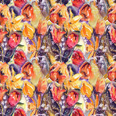 Tulips Seamless Pattern — Stock fotografie