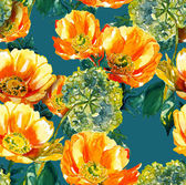 Flowers seamles pattern — Stock Photo