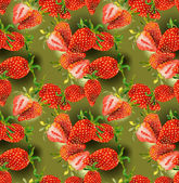 Strawberries seamless pattern — Stok fotoğraf