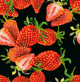 Strawberries seamless pattern — Stock Photo