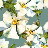 White flowers seamless pattern — Foto Stock