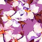 White flowers seamless pattern — ストック写真