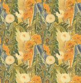 Dandelion seamless pattern — Stock Photo