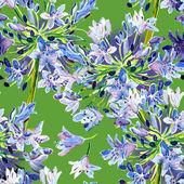 Agapanthus seamles pattern — Stock Photo