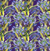 Agapanthus seamless pattern — Stock Photo