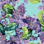 Lilac seamless pattern — Stock Photo