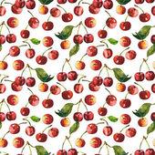Cherries seamless pattern — Stock Photo
