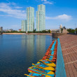 Kazakhstan. Astana.  Embankment. — Stock Photo