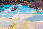 Beautiful Clear Water in Huanglong — Stock Photo