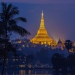 View at dawn of the Shwedagon Pagoda — Stock Photo #45688459