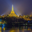 View at dawn of the Shwedagon Pagoda — Stock Photo #45688475