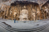 Longmen Grottoes with Buddha's figures — Stock Photo