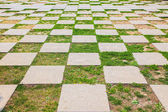 Pattern of Stone walkway — Stock Photo