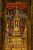 The Emerald Buddha in the temple of Wat Phra Kaeo at the Grand Palace — Stock Photo
