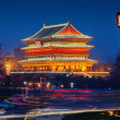 The bell tower under the night in the ancient city xian — Stock Photo #47734911