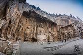 Longmen Grottoes with Buddha's figures — Stock Photo