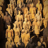 "The Terracotta Army or the ""Terra Cotta Warriors and Horses"" — Stock Photo"