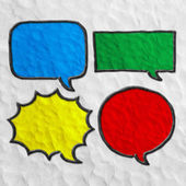 Multicolored speech  bubbles. Set of plasticine speech bubbles. Handmade. — Photo