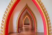 Passageway in the temple, Kanchanaburi, Thailand — Stock Photo