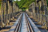 River Kawai Bridge, Kanchanaburi,Thailand — Stock Photo