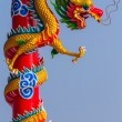 Chinese style dragon statue with blue sky — Stock Photo #51265661