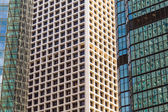 High office building facade partial view with reflection of anot — Stock Photo