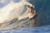 Surfista sulle onde — Foto Stock