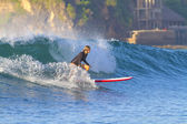 Surfer girl — Stock Photo