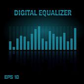 Digital equalizer. — Stock Vector