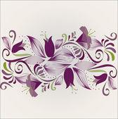 Horizontale paarse ornament — Stockvector