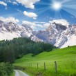 Mountainous countryside — Stock Photo