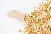 Scoop with seeds — Stock Photo