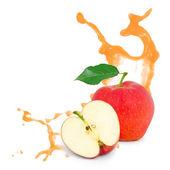 Red apple splash — Stock Photo