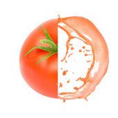 Tomato splash — Stock Photo