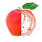 Постер, плакат: Red apple splash