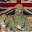 WWI British Army Officer at his desk — Stock Photo #37613137