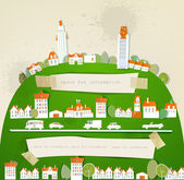 White city collection City on the hill — Stock Vector