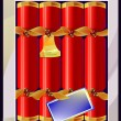 Christmas cracker — Stock Vector