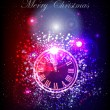 Neon background with clock — Stockvector #36902923