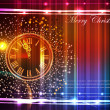 Neon background with clock — Vettoriale Stock