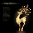 Sparkling reindeer against dark background — Векторная иллюстрация