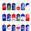 Set of christmas tags — Stock Vector