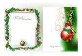 Christmas background Ripped paper effect — Vettoriale Stock