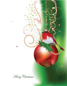 Noel arka plan ile Top — Stok Vektör