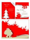 Rasgou o projeto de Natal de papel — Vetor de Stock